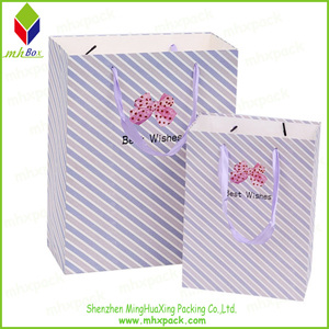 Striped Printing Promotion Paper Bag