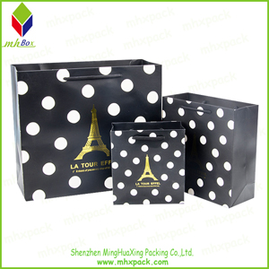 Custom Paper Packaging Bag with Hot Stamping