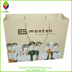 Custom Logo Printing Paper Packaging Shopping Bag