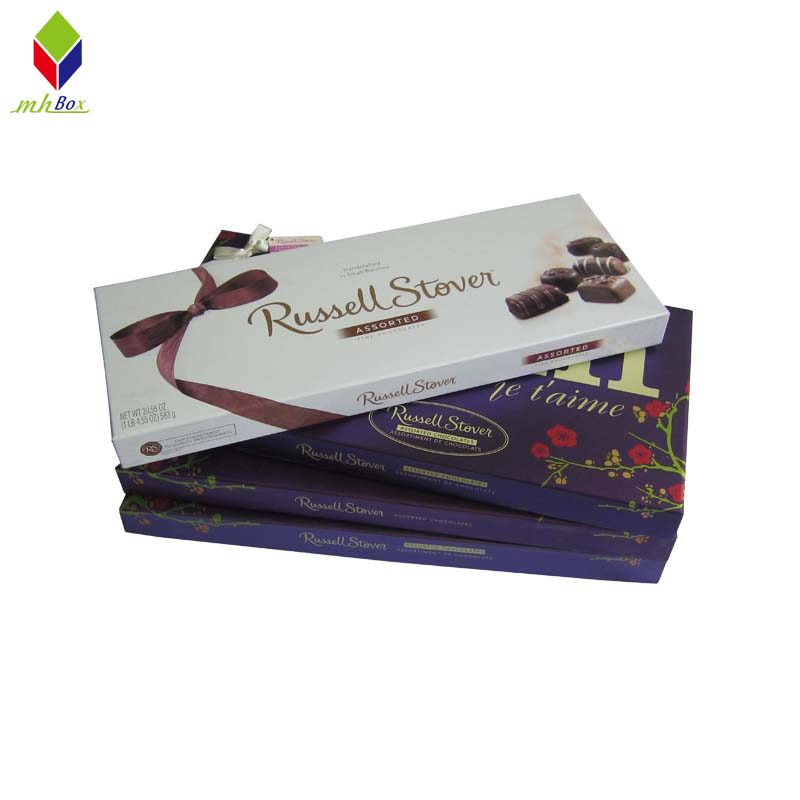 Custom Cardboard Lid and Base Gift Box Chocolate Packaging Box