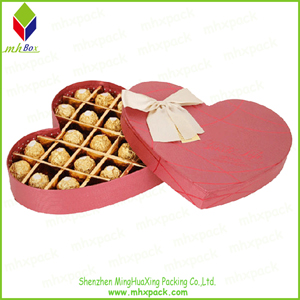 Heart-Shaped Paper Gift Chocolate Packing Box