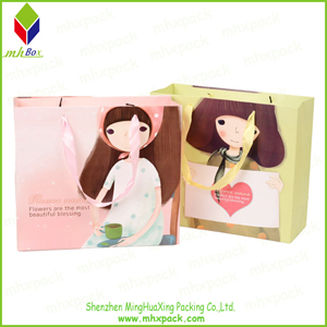 Sweet Printing Paper Packing Fashion Shopping Bag