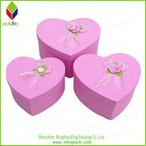 Heart-Shaped Paper Gift Box for Candy