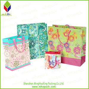 Fashion Flower Printing Paper Cosmetic Bag