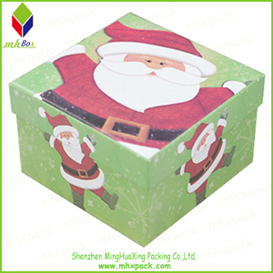 Colored Rigid Paper Christmas Gift Box