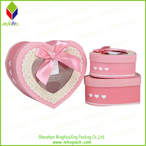 Custom Size Heart-Shaped Paper Packing Gift Box