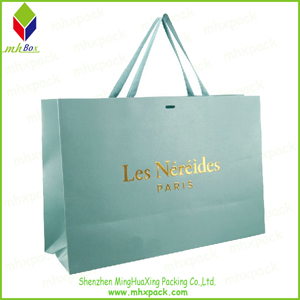 Shoping Paper Bag with Gold Stamping Logo
