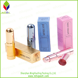 Folding Cardboard Cosmetic Packaging Box for Lipstick