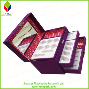 Storage Cosmetic Paper Gift Box with Slide Open
