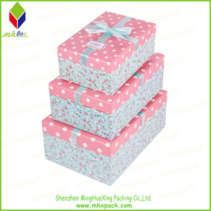 Flower Printing Paper Shoe Packaging Gift Box