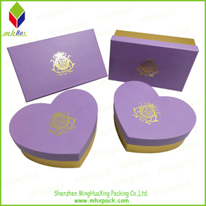 Gold Stamping Purple Packing Gift Chocolate Box