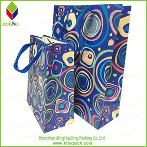 Hole Handle Design Paper Gift Bag in Christmas
